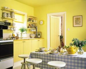 Окраска — это самый традиционный вид отделки стен на кухне