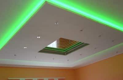 Потолочное освещение или освещение потолка своими руками