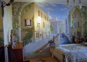 Роспись стен в спальне