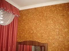 Пробковый материал на стенах квартиры