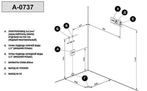 Схема подключения гидромассажной ванны к электричеству