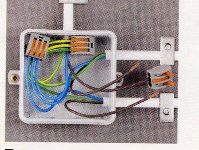 Подключение проводов в распредкоробке