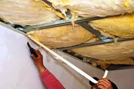 Утепление минеральной ватой потолка