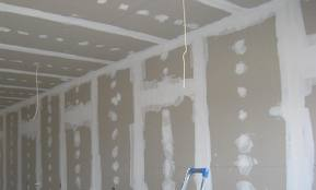 Отделка стены и потолка гипсокартоном