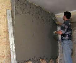 Оштукатуривание стены