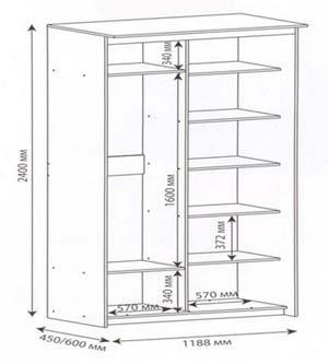 шкаф на балконе схема