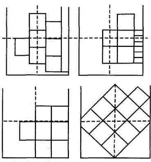 варианты разметки потолка для бесшовной плитки