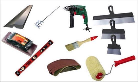 инструменты для шпаклёвки потолка