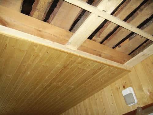 утепление панельного потолка в бане